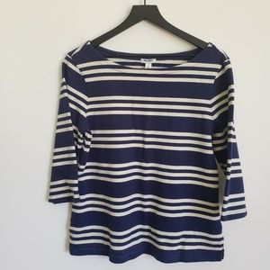 Old Navy Size L Striped 3/4 sleeve Shirt